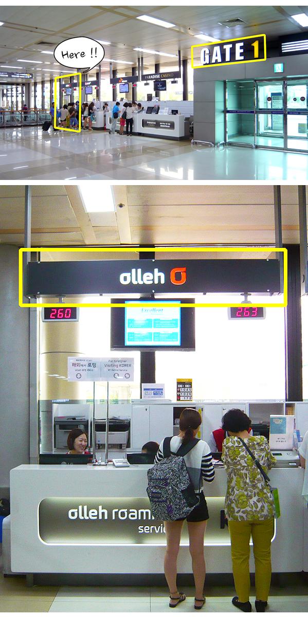 金浦空港のKoreainfo受け渡し場所